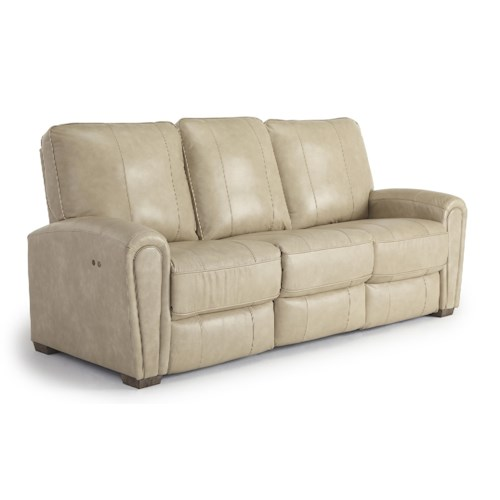 Morris Home Furnishings Miriam Casual Power Reclining Space Saver Sofa