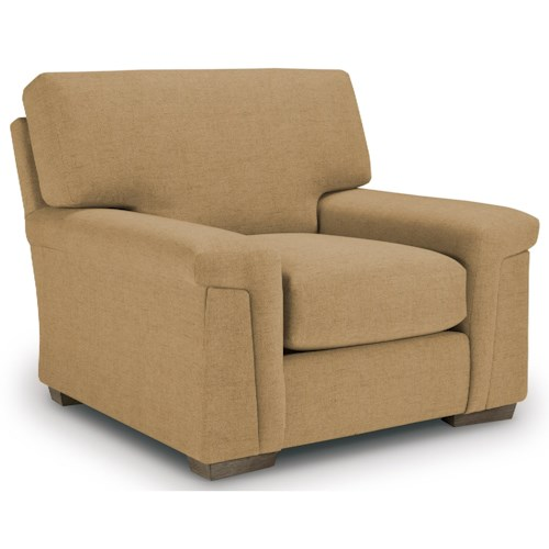 Best Home Furnishings Oliver Casual Chair with Plush Pillow Arms