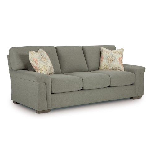 Morris Home Furnishings Oliver Casual Sofa with Plush Pillow Arms