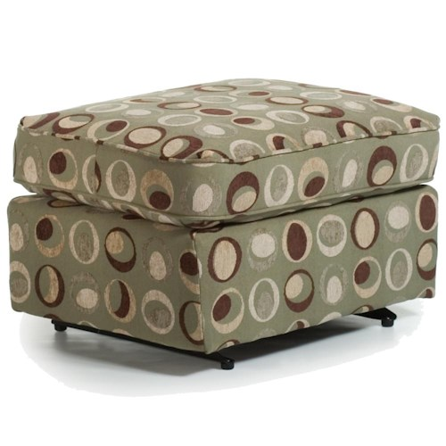 Morris Home Furnishings Ottomans Smooth Rounded Casual Ottoman