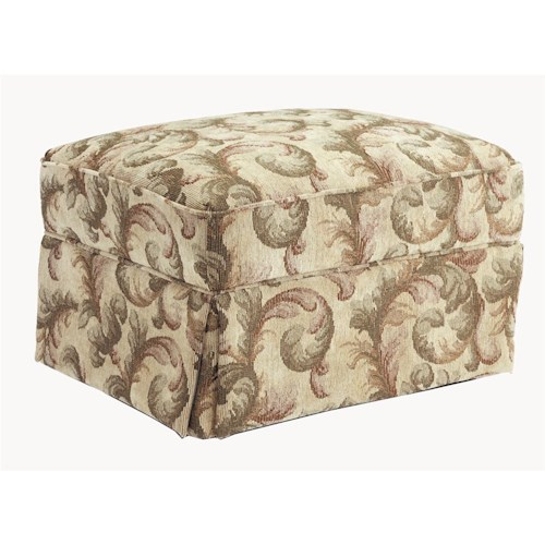 Morris Home Furnishings Ottomans Casual Ottoman with Skirt Base
