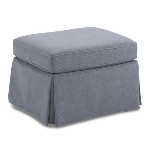 Morris Home Furnishings Ottomans Skirted Glider Ottoman