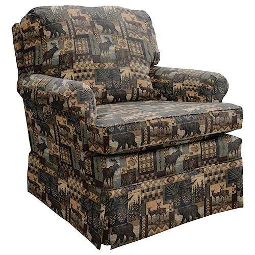 Best Home Furnishings Patoka Comfortable Glider Club Chair