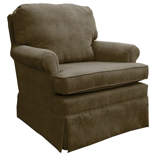 Best Home Furnishings Patoka Traditional Swivel Glider Club Chair