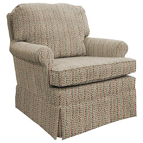 Best Home Furnishings Patoka Traditional Swivel Glider Club Chair