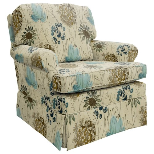 Morris Home Furnishings Patoka Traditional Swivel Glider Club Chair