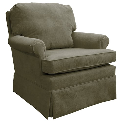 Morris Home Furnishings Patoka Classic Swivel Rocking Club Chair