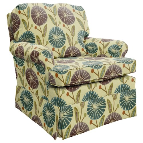 Best Home Furnishings Patoka Classic Swivel Rocking Club Chair