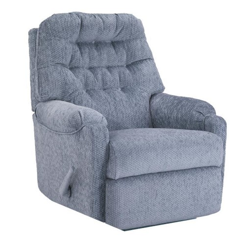 Best Home Furnishings Recliners - Petite Sondra Wallhugger Recliner with Tufted Back