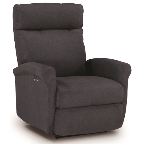 Best Home Furnishings Recliners - Petite Power Lift Recliner with Rolled Arms
