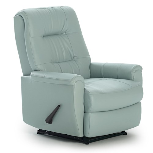 Best Home Furnishings Recliners - Petite Felicia Swivel Rocker Recliner with Button-Tufted Back