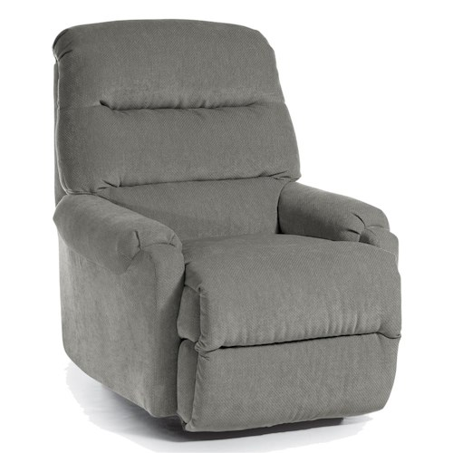 Best Home Furnishings Recliners - Petite Sedgefield Rocker Recliner with Cushioned Seat