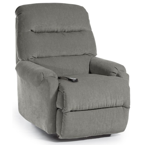 Best Home Furnishings Recliners - Petite Sedgefield Power Lift Recliner with Cushioned Seat