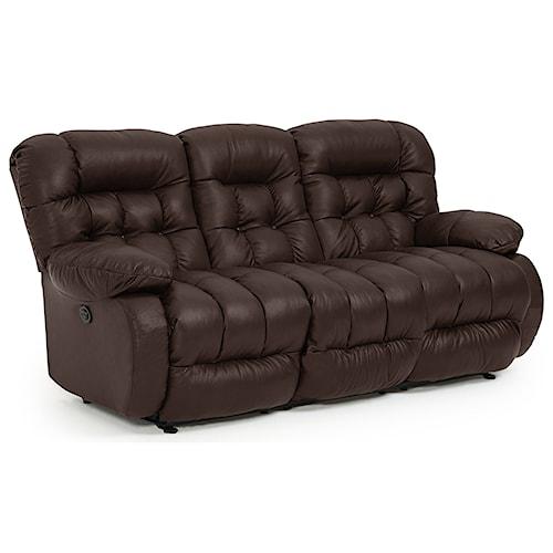 Best Home Furnishings Plusher Power Space Saver Reclining Sofa