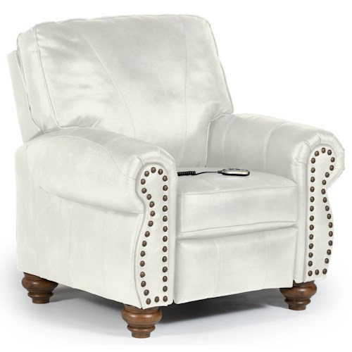 Best Home Furnishings Recliners - Pushback Fleck Power Hi Leg Recliner