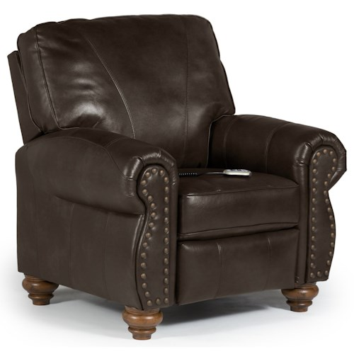 Best Home Furnishings Recliners - Pushback Fleck Power Hi Leg Recliner