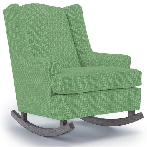 Best Home Furnishings Runner Rockers Willow Upholstered Rocking Chair with Wood Runners