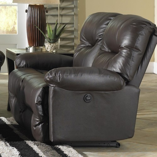 Morris Home Furnishings S501 Zaynah Casual Reclining Loveseat with Pillow Arms