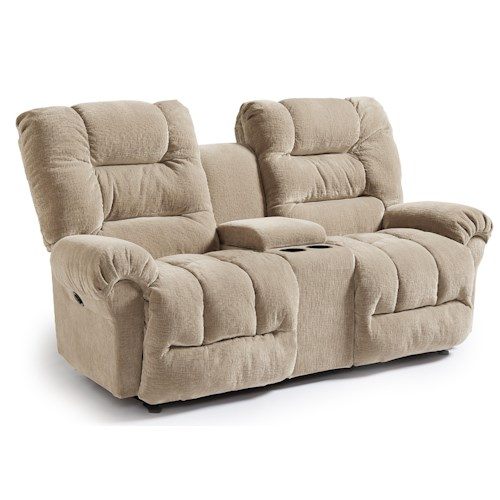 Vendor 411 Seger Casual Power Space Saver Reclining Loveseat with Cupholder Console