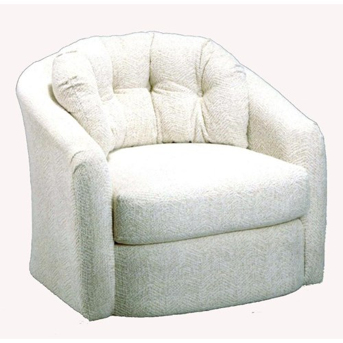 Morris Home Furnishings Chairs - Swivel Barrel Sanya Swivel Barrel Chair