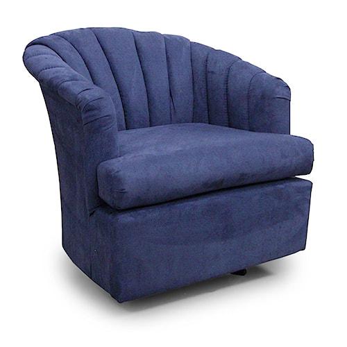 Best Home Furnishings Chairs - Swivel Barrel Elaine Swivel Glider Chair