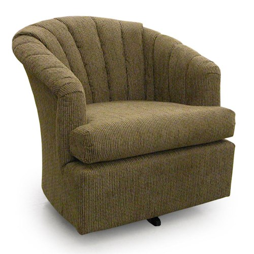 Morris Home Furnishings Chairs - Swivel Barrel Elaine Swivel Barrel Chair