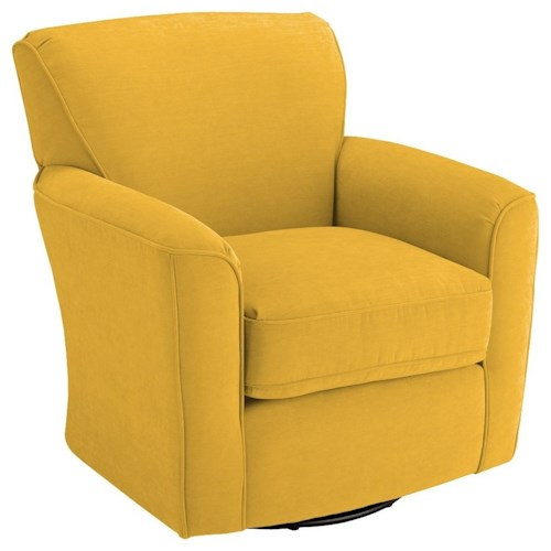 Morris Home Furnishings Chairs - Swivel Barrel Kaylee Swivel Barrel Chair