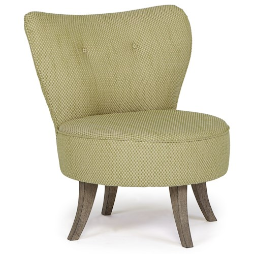 Morris Home Furnishings Chairs - Swivel Barrel Florence Modern Accent Chair with Swivel Base