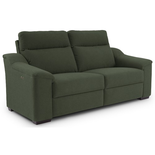 Best Home Furnishings Tanya Contemporary Power Reclining Sofa with Wood Feet and Stationary Arms