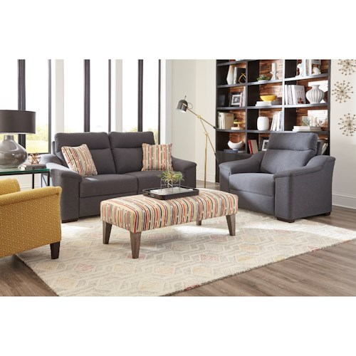 Morris Home Furnishings Tanya Reclining Living Room Group