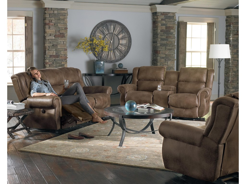 Shown with Space Saver Reclining Sofa and Chair