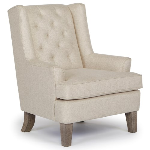 Morris Home Furnishings Chairs - Wing Back Rebecca Wing Chair with Tufted Back