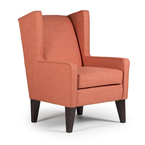 Best Home Furnishings Chairs - Wing Back Karla Modern Wing Chair