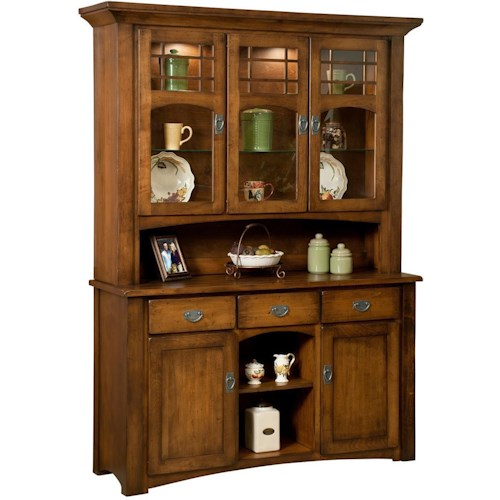 Borkholder Burwick 3 Door Hutch and Buffet