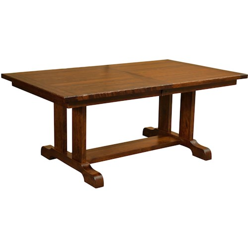 Borkholder Burwick Trestle Dining Table with 2 Leaves