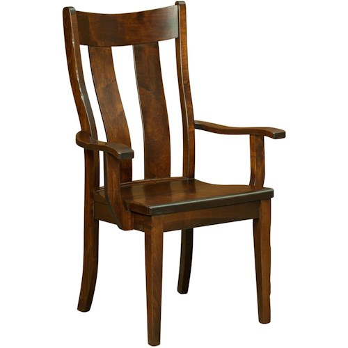 Borkholder Dining Chairs Richfield Arm Chair with Contoured Back