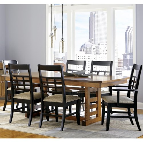 Borkholder Sunset Hills 7 Piece Dining Set with Trestle Table