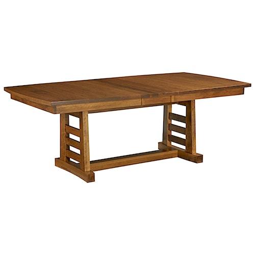 Borkholder Sunset Hills Trestle Table with Leaf