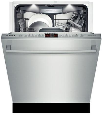 White Light Illuminates the Interior when the Dishwasher is Open