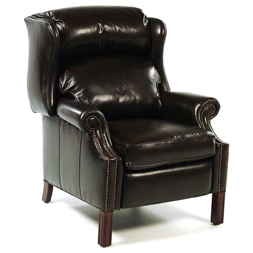 Bradington Young Chairs That Recline Reclining Wing Chair with Brass Nails