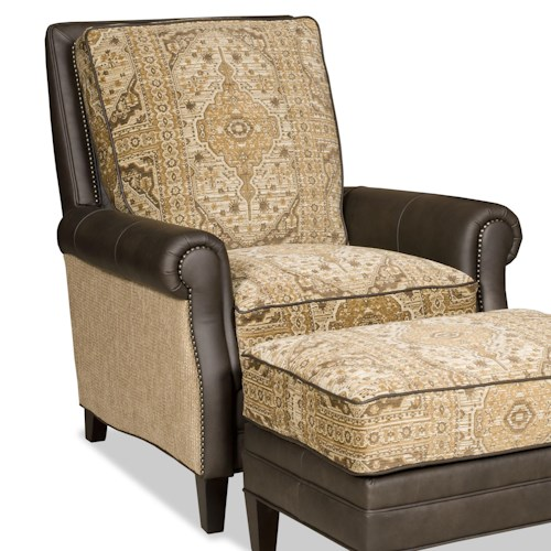 Bradington Young Aiden Transitional Tilt Back Recliner with Nailheads