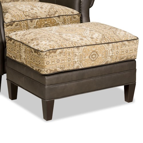 Bradington Young Aiden Transitional Ottoman