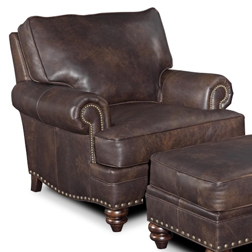 Bradington Young Carrado Traditional Chair with Rolled Arms and Nailhead Trim