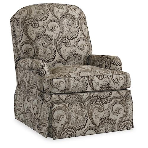 Bradington Young Chairs That Recline Laken Wall-hugger Recliner with Skirt