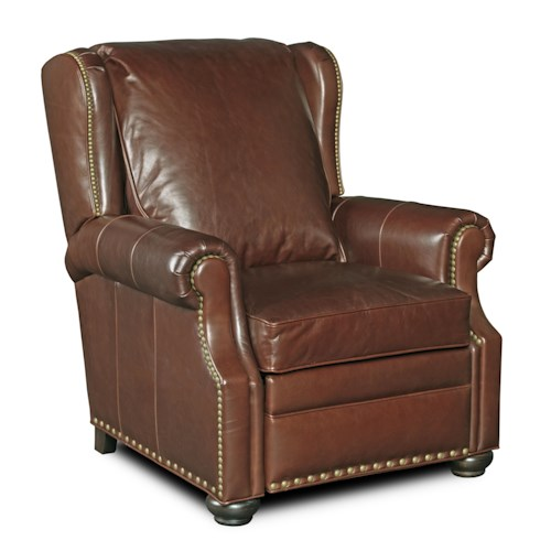 Bradington Young Chairs That Recline Tanner Three-Way Recliner with Rolled Arms and Nailheads