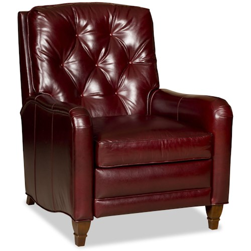 Bradington Young Chairs That Recline Laurent Button Tufted High Leg Recliner