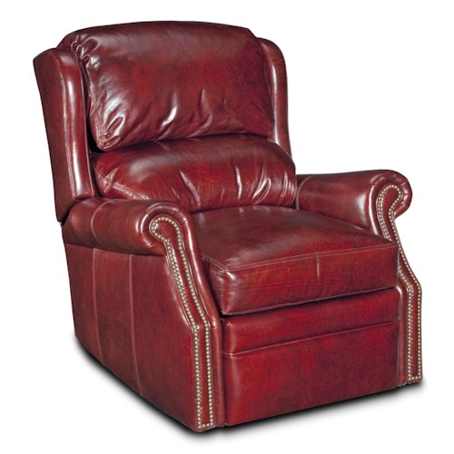 Bradington Young Chairs That Recline Bancroft Wall-Hugger Recliner w/Brass Nails