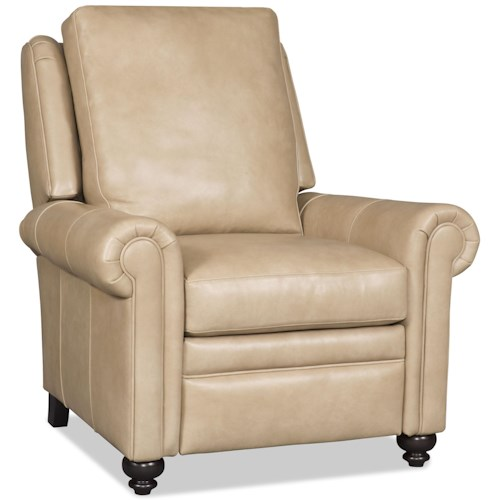 Bradington Young Daire Customizable High Leg Recliner with Rolled Panel Arms