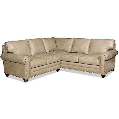 Bradington Young Daylen Two Piece Customizable Sectional Sofa