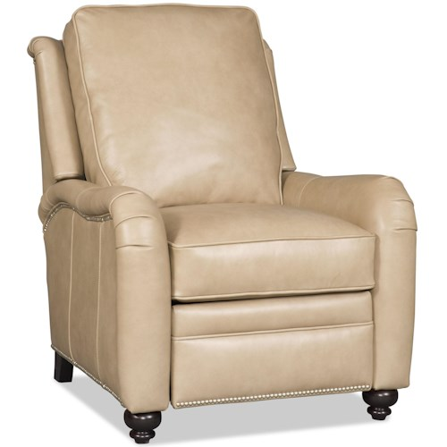 Bradington Young Derring Traditional High Leg Recliner with English Arms and Turned Legs